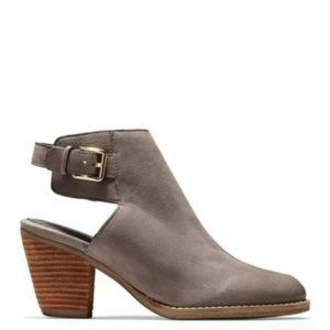 """Cole Haan Leather """"Pippa"""" gray ankle boot 8 NEW"""